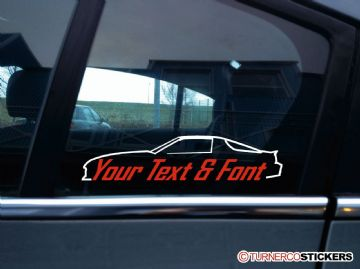 2x (two) Chevrolet Camaro IROC-Z 3rd Gen (F-body 1982-92) Chevy CUSTOM TEXT stickers